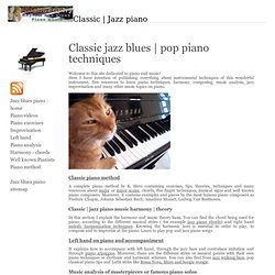 blues jazz piano : learn techniques