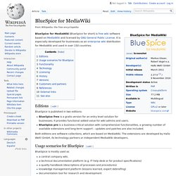BlueSpice for MediaWiki - Wikipedia