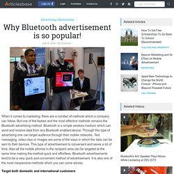 Why Bluetooth advertisement is so popular!