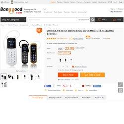 LONG-CZ J8 0.66-inch 300mAh Single Micro SIM Bluetooth Headset Mini Cellphone Sale - Banggood.com