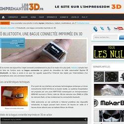 Ö bluetooth, une bague connectée imprimée en 3D