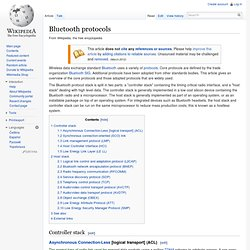 Bluetooth protocols