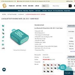 Loa Bluetooth Kháng Nước JBL GO 3 full màu chính hãng, giá tốt
