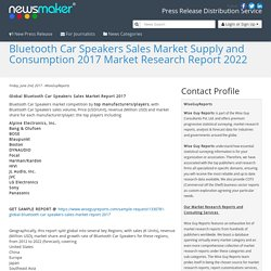 Bluetooth Car Speakers Sales Market Supply and Consumption 2017 Market Research Report 2022