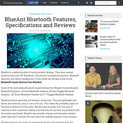 Bluetooth based devices from BlueAnt.