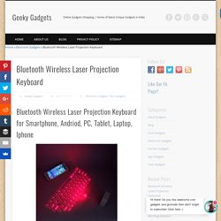 Bluetooth Wireless Laser Projection Keyboard