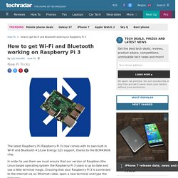 How to get Wi-Fi and Bluetooth working on Raspberry Pi 3