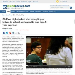 Bluffton High student who brought gun, knives to school sentenced to less than 5 year in prison