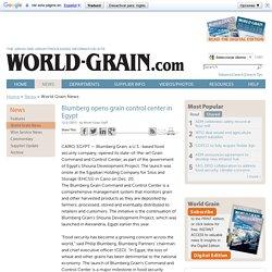 Blumberg opens grain control center in Egypt