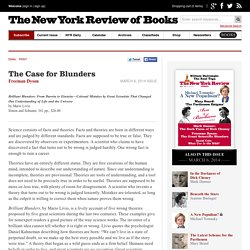 The Case for Blunders by Freeman Dyson