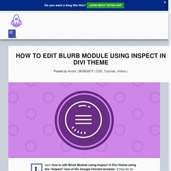 Hack Blurb Module in Divi theme - Divi Tutorial - YouDivi