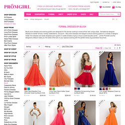 Unique Long One Shoulder Prom Dresses by Blush for 2010