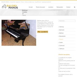 Blüthner modèle 10 vernis tampon - 21000 € - BAUDRY PIANOS