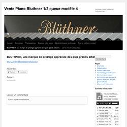 BLUTHNER, une marque de prestige appréciée des plus grands artistes
