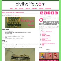 Blythe Empire Dress - Knitting Pattern