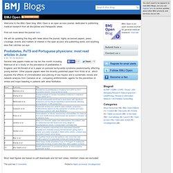 Blogs: BMJ Open