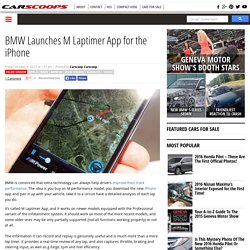 BMW Launches M Laptimer App for the iPhone
