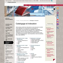 Catalogage et indexation