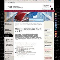 Historique de l'archivage du web à la BnF