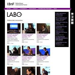BnF - Le labo - Vidéos des rencontres