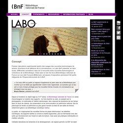 Le labo - Concept BnF