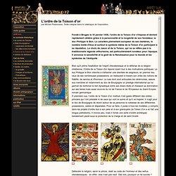 ordre européen XVe siècle (miniatures)