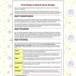 Board Game Design First Steps