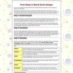 Board Game Design First Steps