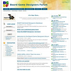 Board Game Designers Forum | It's Your Turn...