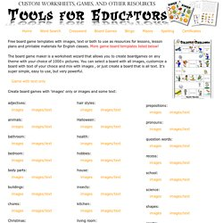 Tools for Educators.com - Board Game Maker, printable board games, 100% customizable