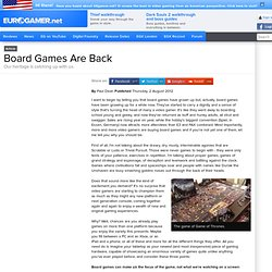 Board Games Are Back