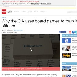 Why the CIA uses board games to train its officers - Mar. 13, 2017