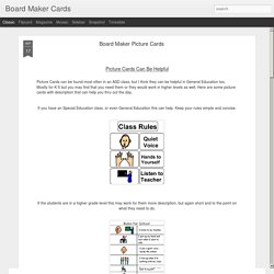 Board Maker Picture Cards