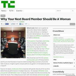 Why Your Next Board Member Should Be A Woman