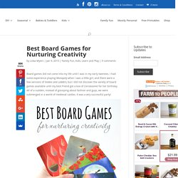 Best Board Games for Nurturing Creativity