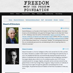 2012 création Freedom of the Press Foundation