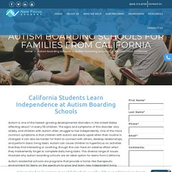 Autism Boarding Schools For Families From California - New Focus Academy