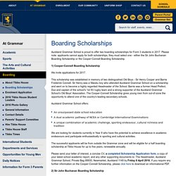 Boarding Scholarships » Auckland Grammar School