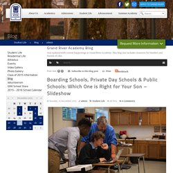 Boarding Schools, Private Day Schools & Public Schools: Which One is Right For Your Son - Slideshow