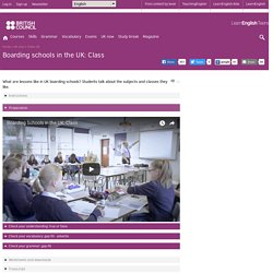 Boarding schools in the UK: Class