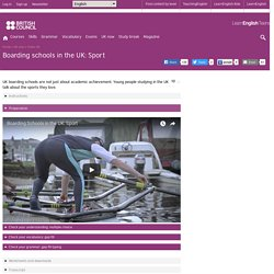 Boarding schools in the UK: Sport