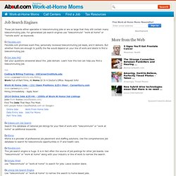 Job Boards or Search Engines for Telecommuting Jobs