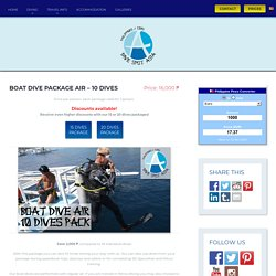 Boat Dive Package Air