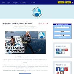 Boat Dive Package Air - 20 Dives - Dive Spot Asia