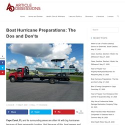 Boat Hurricane Preparations: The Dos and Don'ts
