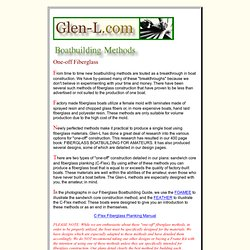 Boatbuilding Methods: Fiberglass