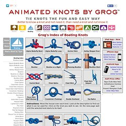 Noeuds marins - Grog's Boating Knots Index