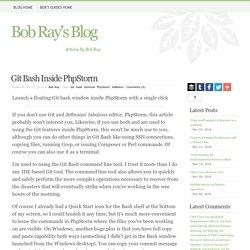 Bob's Blog - Git Bash Inside PhpStorm