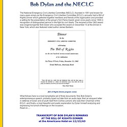 Bob Dylan and the NECLC