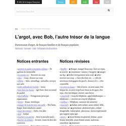 Bob / Bob, l'autre trésor de la langue